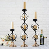 Metal Votive Candle Holder with Amber Glass Tube | 20"