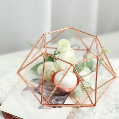 Hexagon Geometric Candle Holder | Tea Light Votive Candle Holders