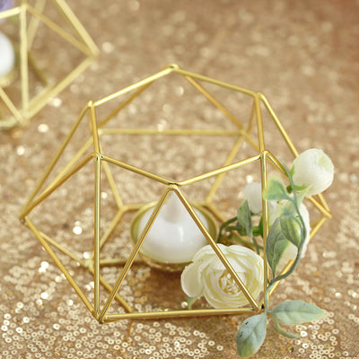 SeGold Tea Light Candle Holders | Hexagon Top Geometric Candle Holder Centerpiece