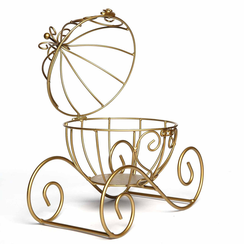 11 Gold Cinderella Carriage Card Display Candle Holder