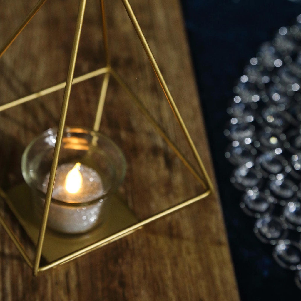 Tea Light Candle Holder Stand Gold wedding party occasions