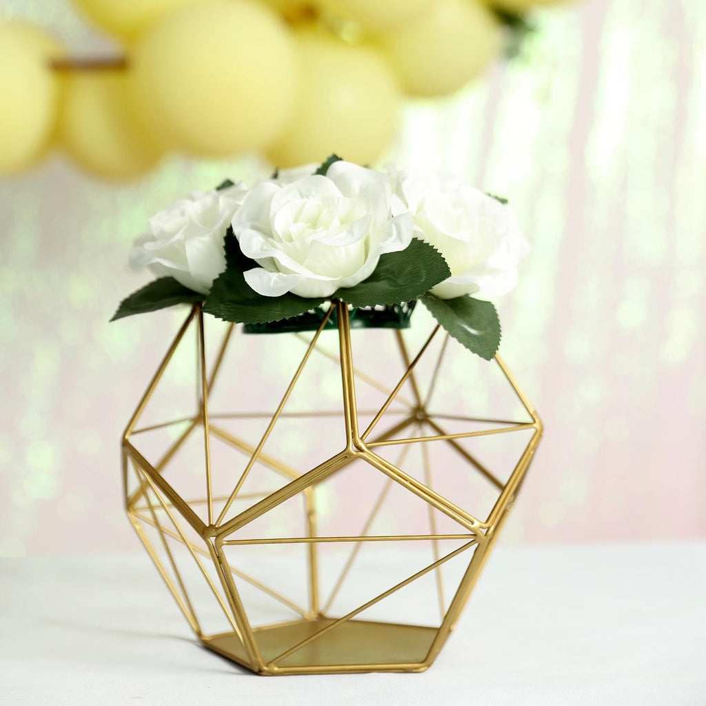 Geometric Tealight Candle Holders Geometric Flower Stand Centerpieces Tableclothsfactory