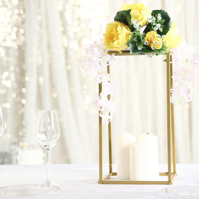 "16"" Gold Wedding Flower Stand 