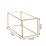 "2 Pack | 24"" Matte Gold Wedding Flower Stand 