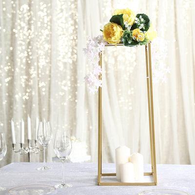 "24"" Gold Wedding Flower Stand 