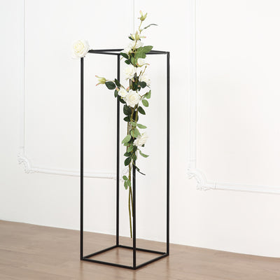 Wedding Flower Stand | Metal Vase Column Stand | Geometric Centerpiece Vase | TableclothsFactory
