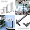 "2 Pack | 40"" Matte Black Wedding Flower Stand 