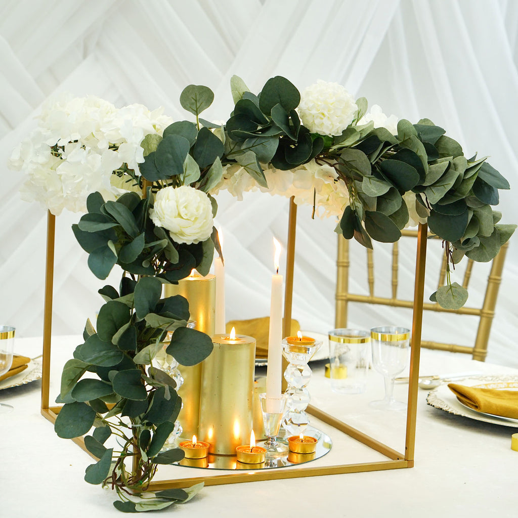 Flower Stand Geometric Centerpiece Vases Metal Plant Stand Tableclothsfactory