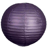 "12 Pack | 12"" Purple Round Chinese Paper Lantern"