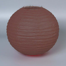 "12 Pack | 20"" Chocolate Round Chinese Paper Lanterns - Clearance SALE"