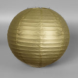 "20"" Paper Chinese Lantern Lamp Shade Hanging Party Event Decor Set - Gold - 12 PCS"