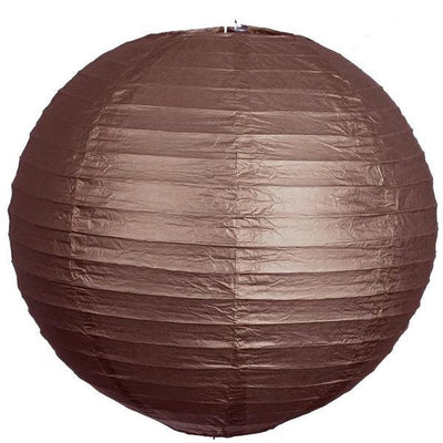 "12 Pack | 24"" Chocolate Round Chinese Paper Lanterns - Clearance SALE"