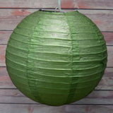 "12 Pack | 24"" Green Round Chinese Paper Lanterns - Clearance SALE"