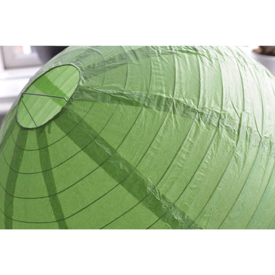 "12 Pack | 30"" Handcrafted Green Round Chinese Paper Lantern"