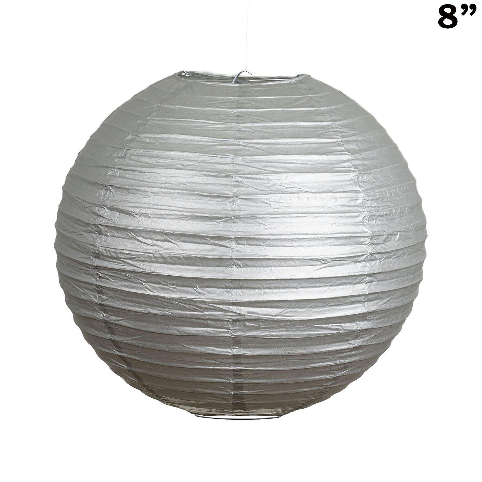8 paper chinese lantern lamp shade hanging party event decor set 8 paper chinese lantern lamp shade hanging party event decor set silver 12 pcs mozeypictures
