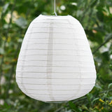 3 Pack White Enticing Teardrop Chinese Paper Lanterns