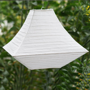 "3 Pack 14"" Geometric White Pagoda Paper Living Room Lanterns"