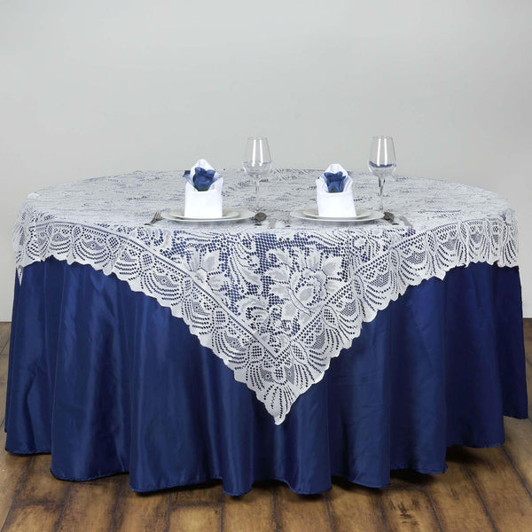 "54"" x 54"" Ivory JOLLY GOOD Lace Table Overlay"