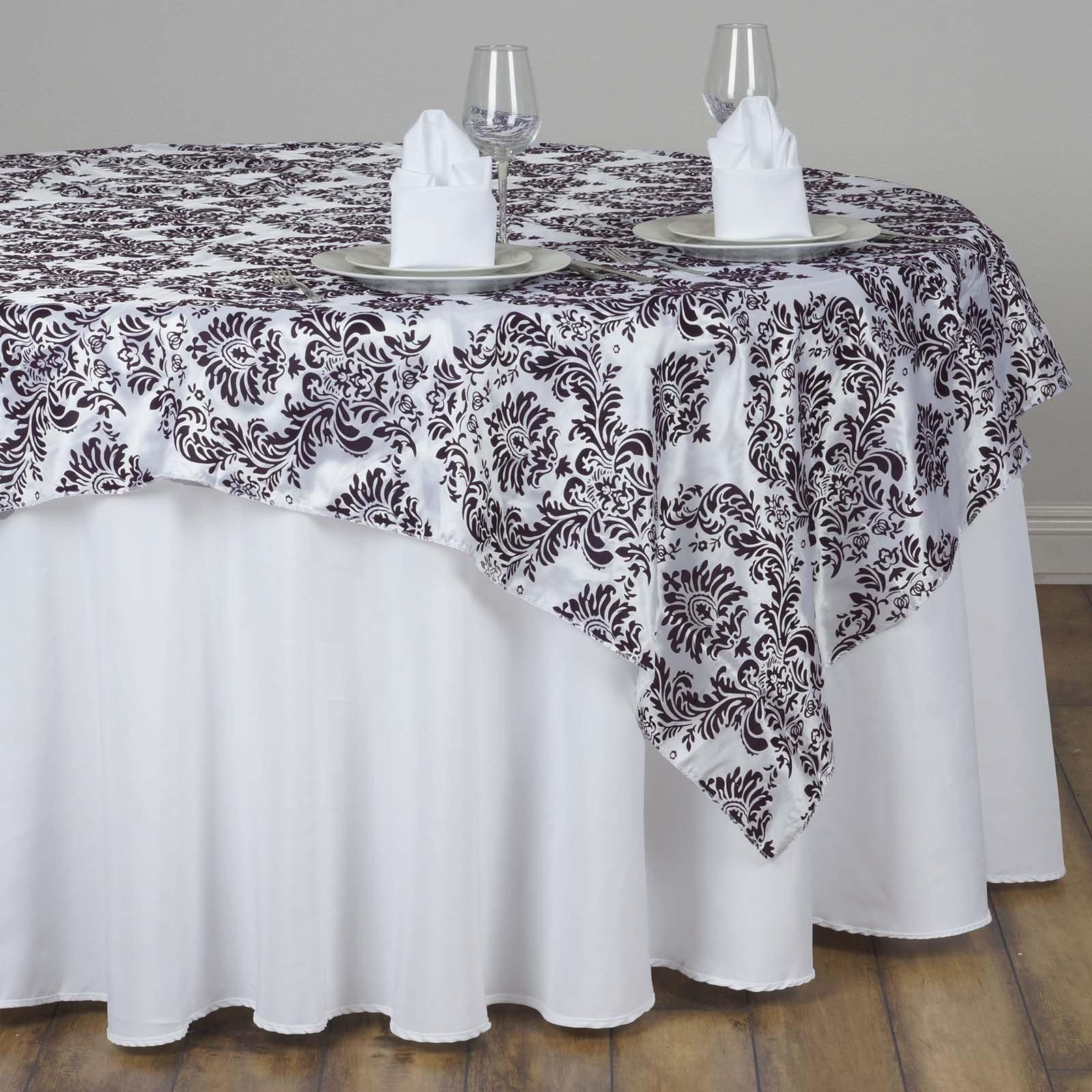 60 Overlay Flocking White Chocolate Tablecloths Factory
