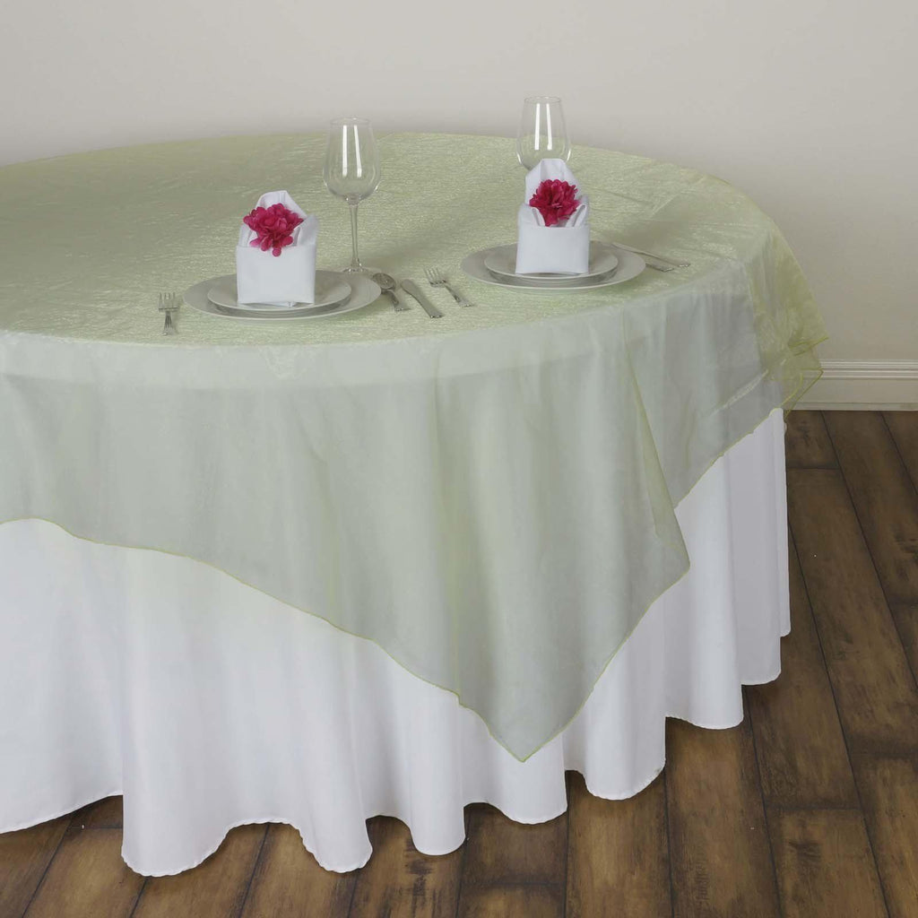60 Quot Overlay Organza Apple Green Tablecloths Factory