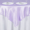 "60""x 60"" Lavender Seamless Satin Square Tablecloth Overlay"