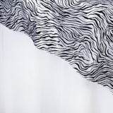 "60""x60"" Taffeta Velvet OverlayTiger Animal Print For Wedding Party Banquet Event Restaurant - BLACK / WHITE"