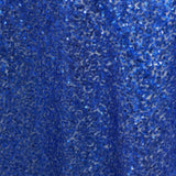 "72"" Premium Stripe Sequin Square Overlay For Wedding Catering Party Table Decorations - Royal Blue"