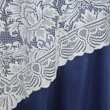 "72""x72"" Wholesale Flower Design LACE Overlay For Wedding Event Catering Party Decoration - IVORY"