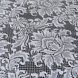 "72""x72"" Wholesale Flower Design LACE Overlay For Wedding Event Catering Party Decoration - WHITE"