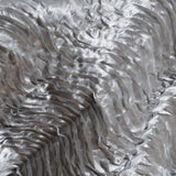 "72""x72"" Beverly Hills Waves Overlays - Silver Satin"