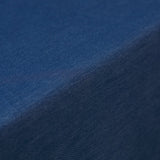"72"" x 72"" Dark Blue Faux Denim Polyester Table Overlays#whtbkgd"
