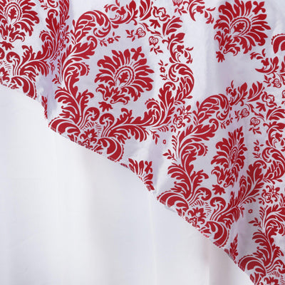 "72"" Overlay Flocking - White / Red"