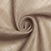 "72""x72"" Taupe Premium Faux Linen Square Overlay 