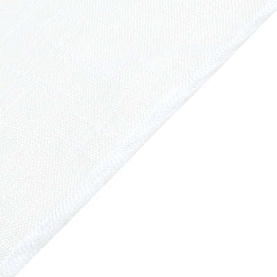 "72""x72"" White Premium Faux Linen Square Overlay 