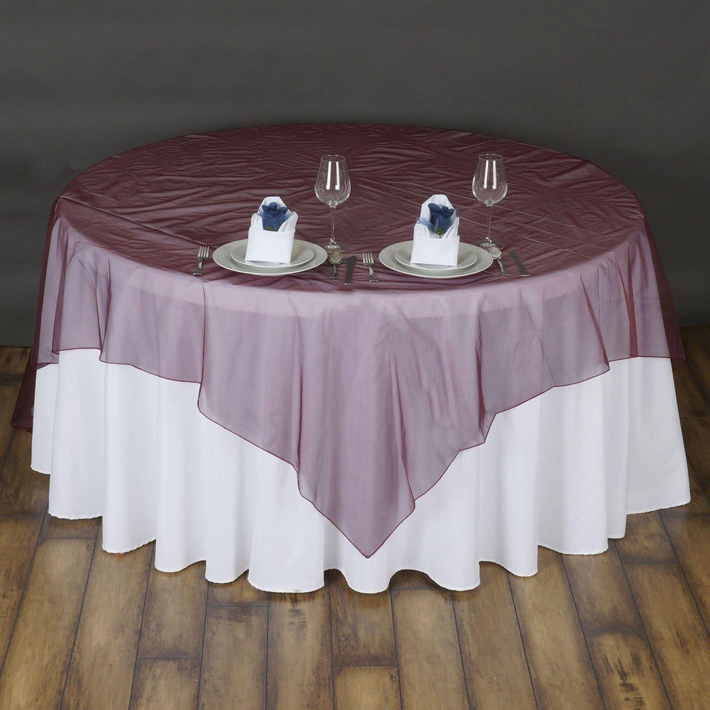 72 Quot Overlay Organza Burgundy Tablecloths Factory