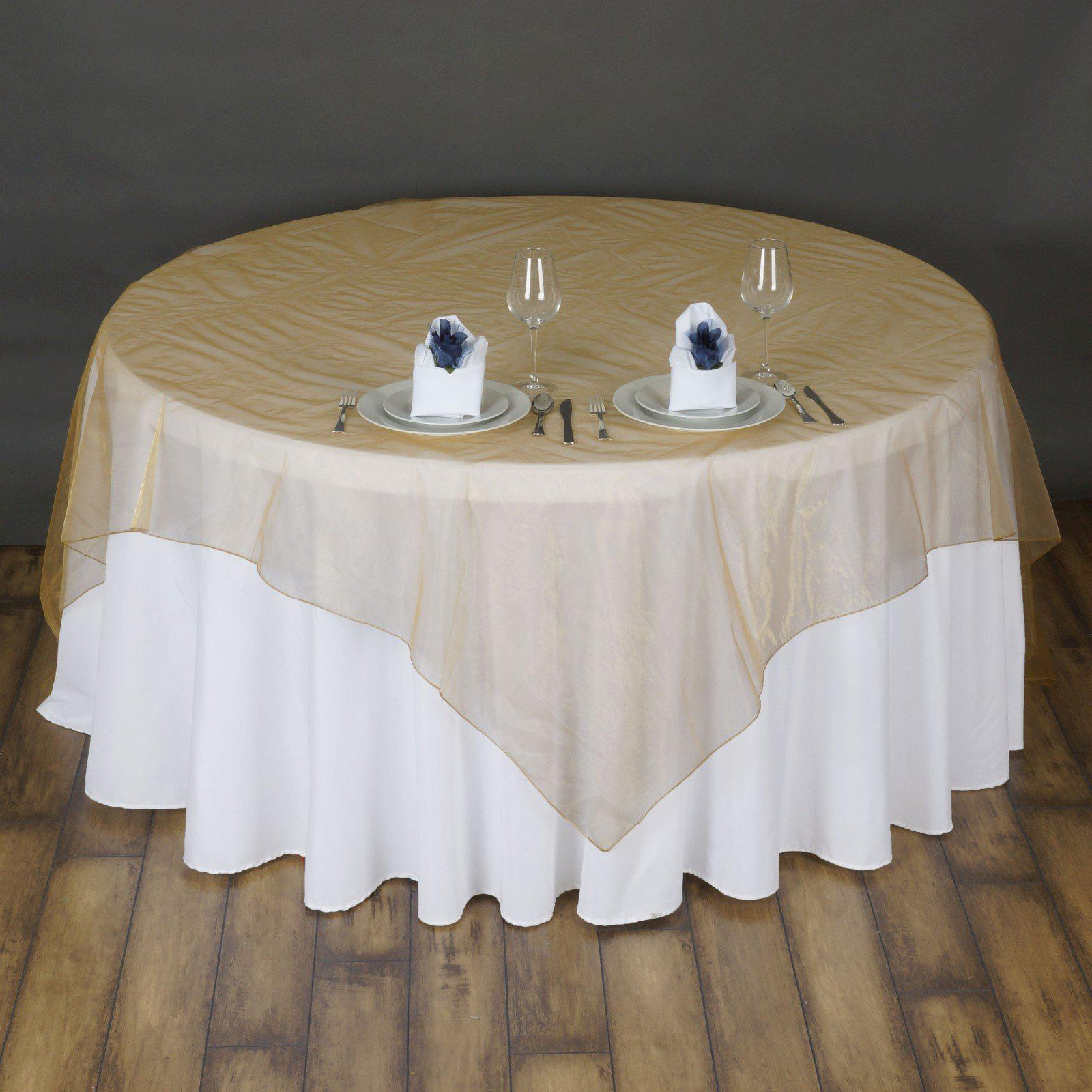 72 Quot Overlay Organza Gold Tablecloths Factory
