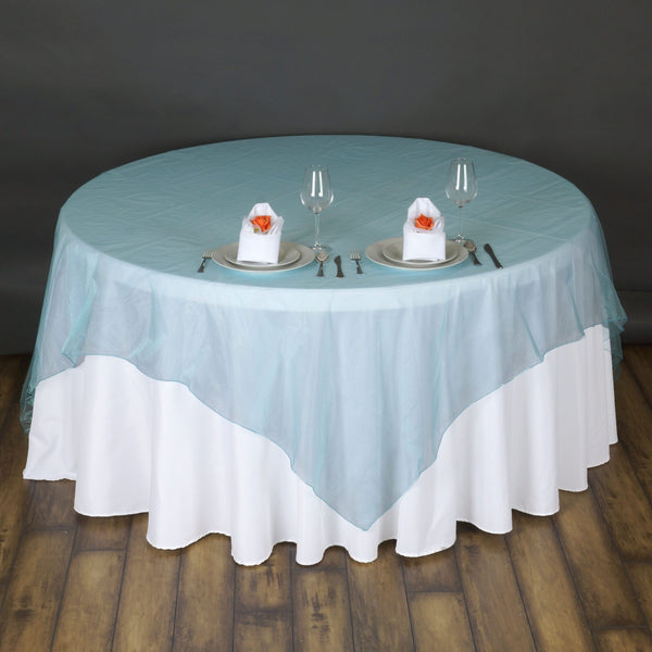 Round Table Overlays.Organza Embroidered Table Overlays Tableclothsfactory Com