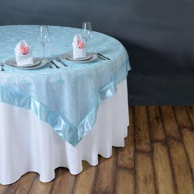 "85"" Overlay Embroider - Light Blue"