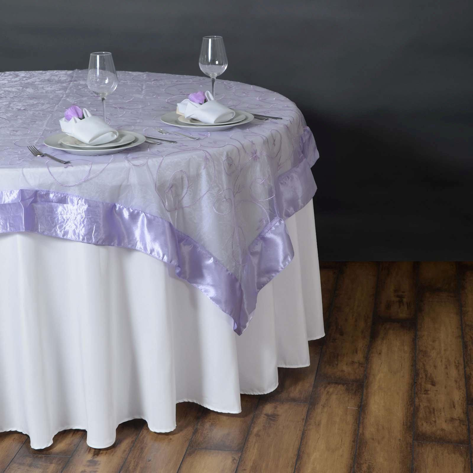 85 Overlay Embroider Lavender Tablecloths Factory