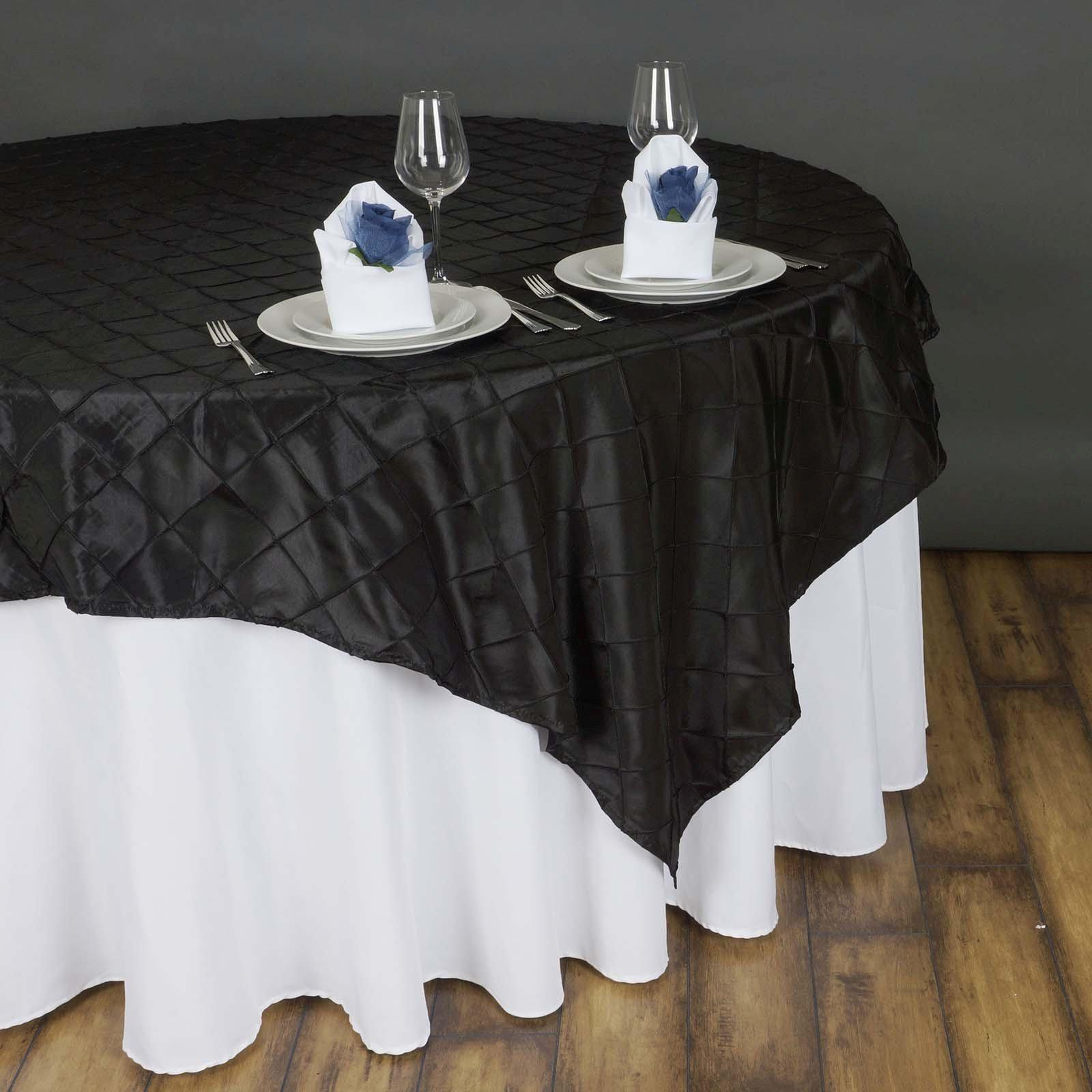 85 overlay pintuck black tablecloths factory for 85 table overlay