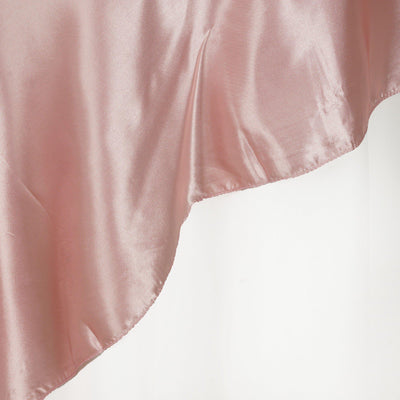 "90"" SATIN Square Overlay For Wedding Catering Party Table Decorations - MAUVE"