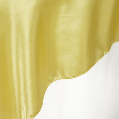 "90"" SATIN Square Overlay For Wedding Catering Party Table Decorations - YELLOW"