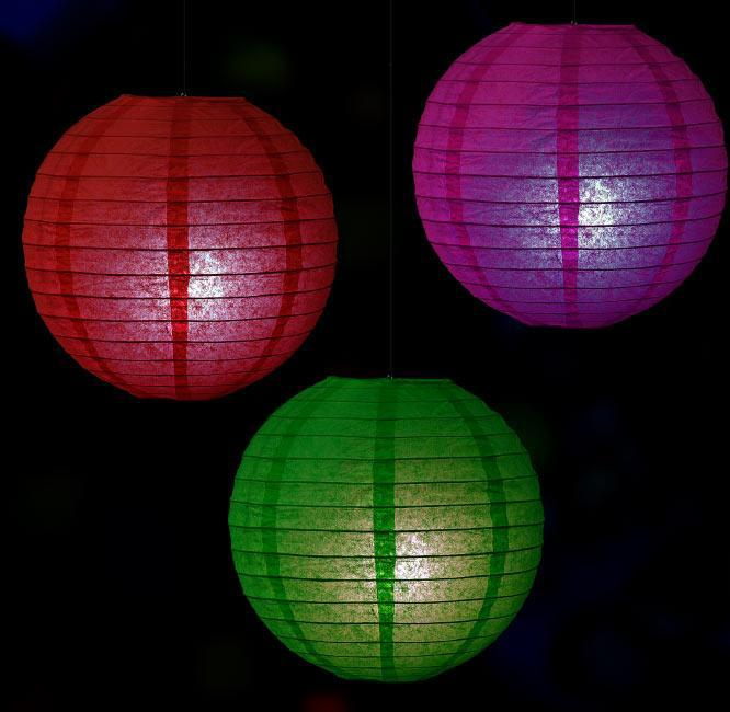 12 pack white led battery operated hanging paper lantern lights
