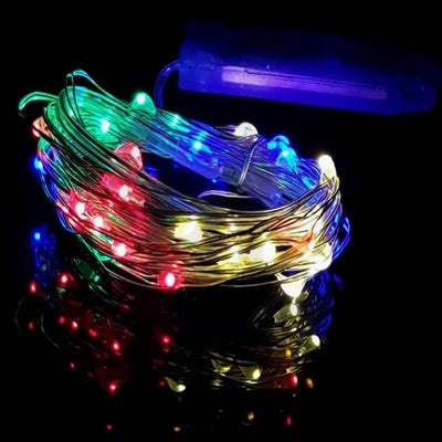 7.5 FT 20 LED Assorted Colors String Light Lamp Fairy Home Outdoor Wedding Party