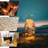 "90"" White Starry String Lights Battery Operated with 20 Micro Bright LEDs"