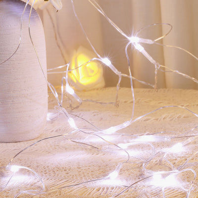 100 LED Net String Light With 7 Lighting Effects For Wedding Party Event Backdrop Decoration - White