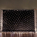 20FT x 10 FT | 600 Clear LED Net Lights Fishing String With 8 Lighting Modes