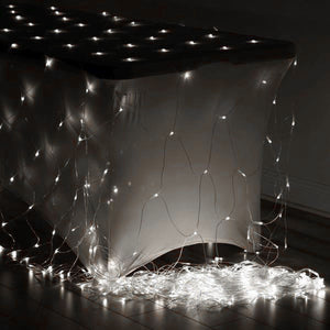 20FT 600 LED Sequential String Light Net For Wedding Party Event Backdrop Decoration - Clear
