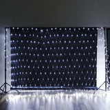 20FT x 10 FT | 600 Bright Blue LED Sound Activated Net String Lights With 8 Lighting Modes