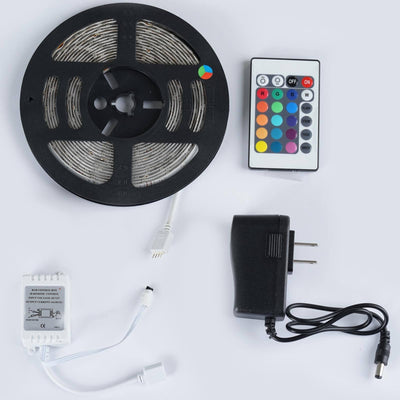 16FT 300 LED Flexible Strip Light SMD For Wedding Outdoor Party Event Decoration With 24 Key IR REMOTE + ADAPTER